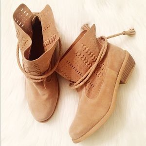 Shoes - NWOT Tassel Booties by etc!